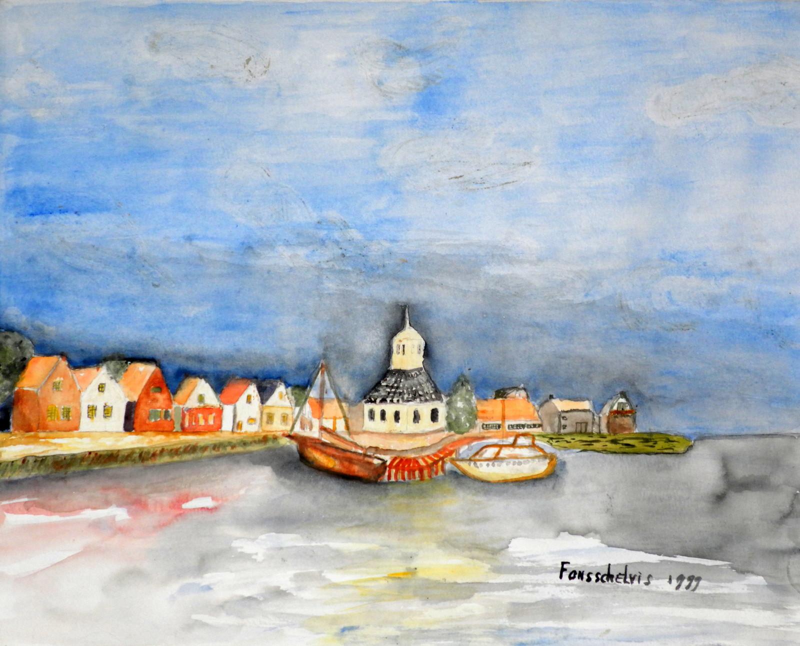 Dorp aan het IJselmeer